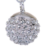 Pave Swarovski Elements Ball Drop Earrings