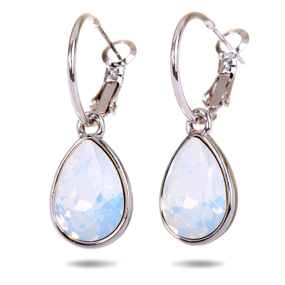Teardrop Opal Swarovski Elements Drop Earrings