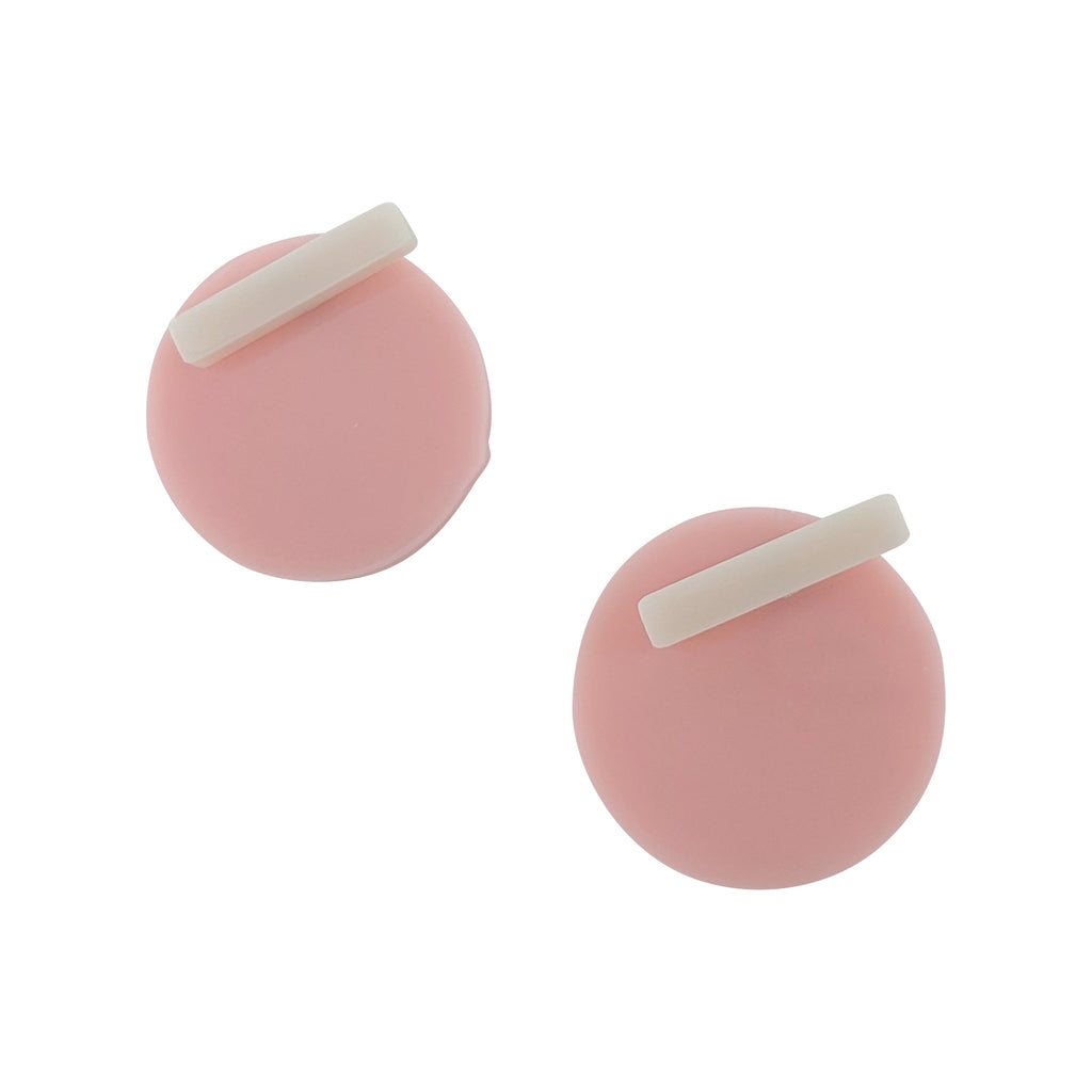 Funky Acrylic Round and Bar Earrings