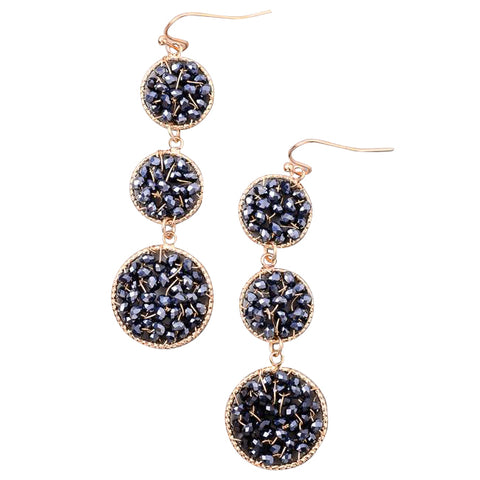 Sparkly Crystal Beaded Earrings