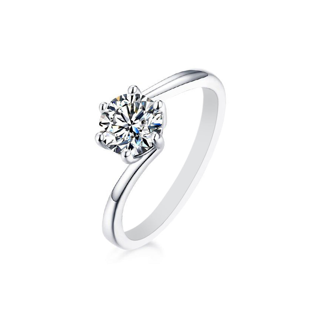 Willa Moissanite Ring in S925 Sterling Silver