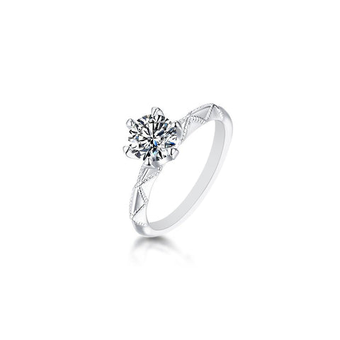 Edith Moissanite Ring in S925 Sterling Silver