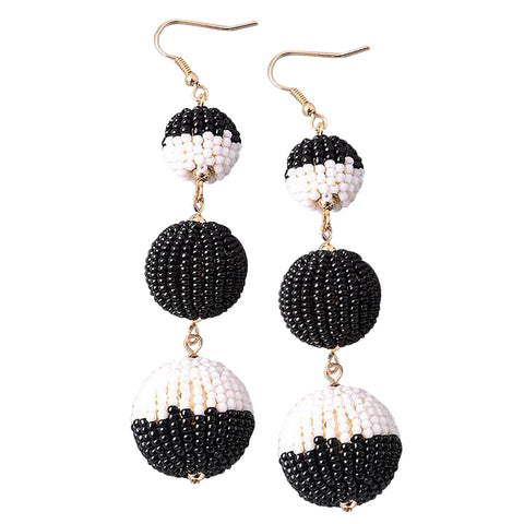 Dainty Beaded Bon Bon Earrings