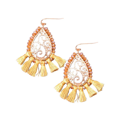Teardrop Chandelier Tassel Earrings