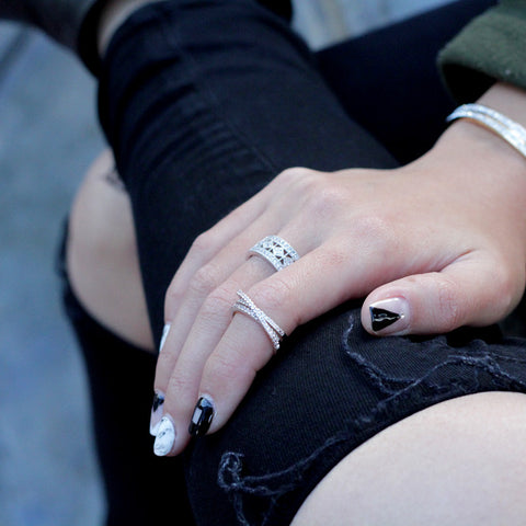Twin Pave Ring