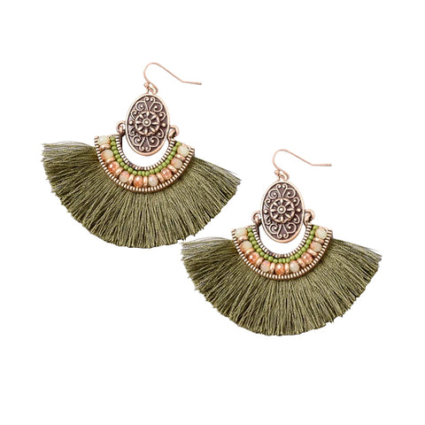 Bohemian Fan Chandelier Earrings
