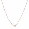 Nail Rose Gold Drop Necklace