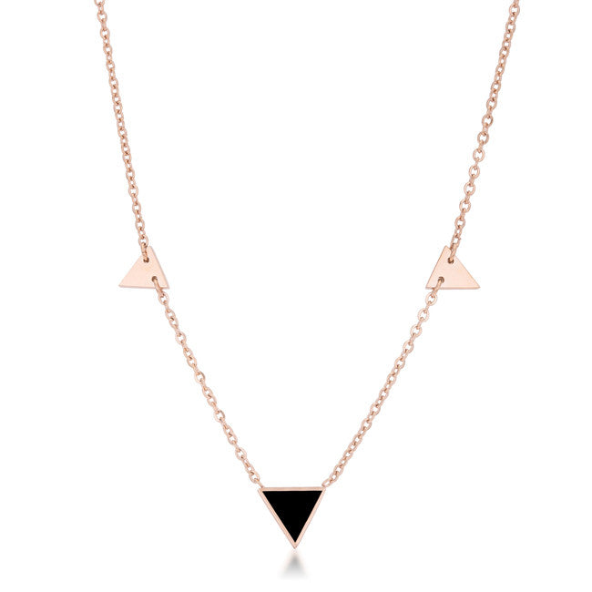 Rose Gold Trinity Necklace