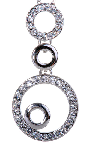 Swarovski Elements Crystal Accent Loop Pendant Necklace