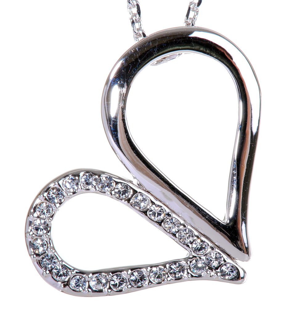Swarovski Elements Heart Loop Pendant Necklace