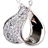 Pave Loop Swarovski Elements Necklace