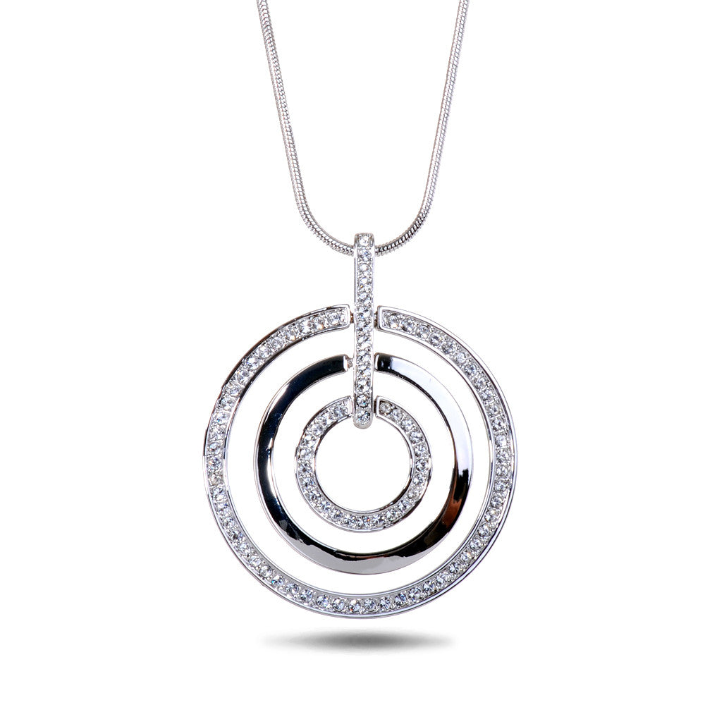 handmade shop disc silver necklace circle chain dsc collections sterling designers pendant triple