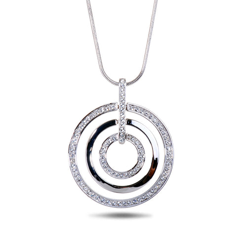 Swarovski Double Loop Pendant Necklace