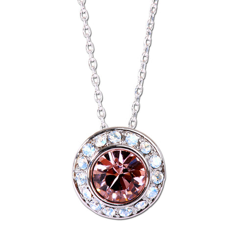 Dual Heart Pave Swarovski Elements Necklace