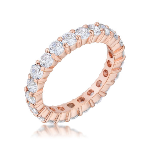 Rose Gold Crystal Fashion Ring