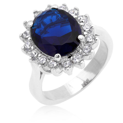 Sterling Silver Regal CZ Ring