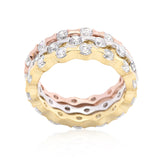 18k Gold Plated Eternity Rings