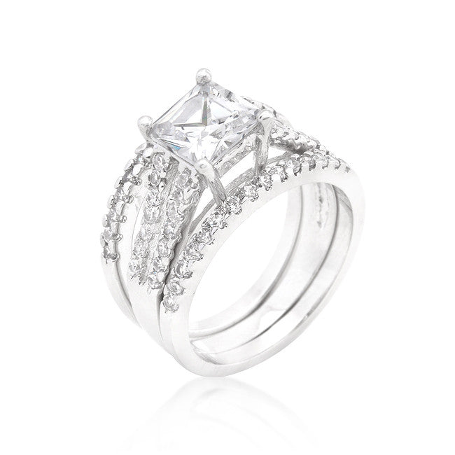 Triplet Wedding Ring Set