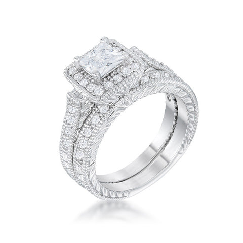 Square Crystal Eternity Ring