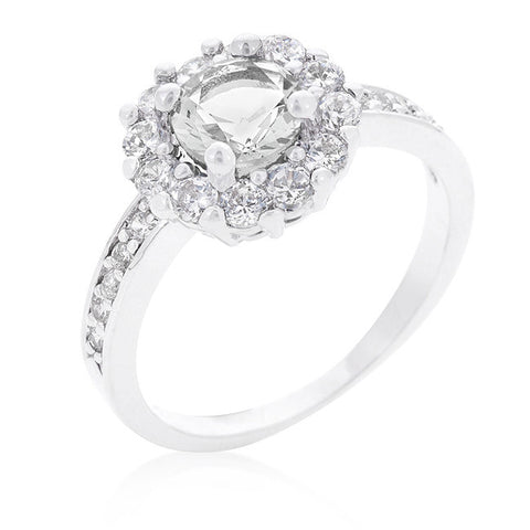 Two-Tone Round CZ Wedding Ring Set