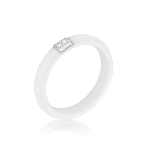 Ceramic White Ring