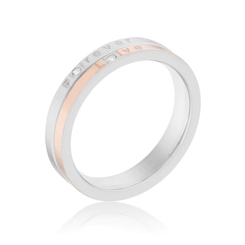 Rose Gold Minimal Wedding Band