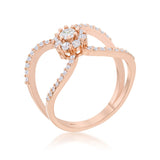 Rose Gold Infinite Ring
