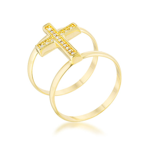 Gold Cross Ring