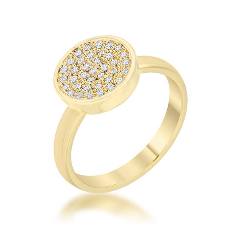 Gold Plated CZ Eternity Band