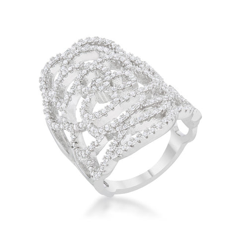 Double Band Heart Ring