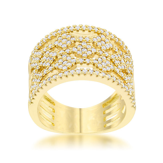 14k Gold Plated Band Ring