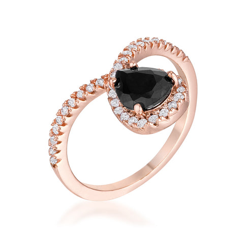 Irregular Diamond Rose Gold Ring