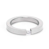 Floating Solitaire Ring