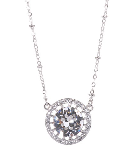 Clear Solitaire Swarovski Elements Necklace