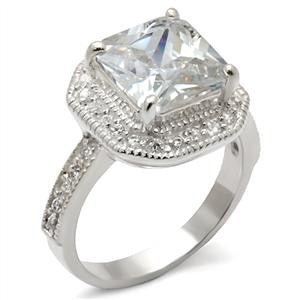 Princess Sterling Silver CZ Ring