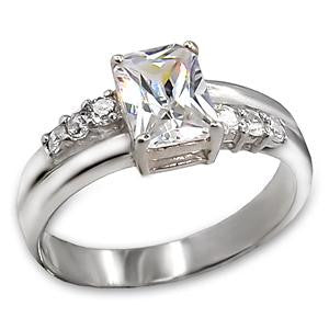Sterling Silver Princess Cut CZ Ring