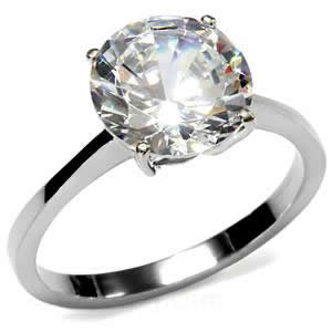 Round Prong CZ Ring
