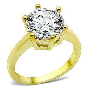 Radiant Brilliant Round CZ Pave Fashion Ring