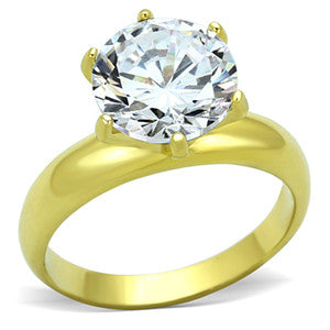 4ct. Round CZ Solitaire Ring