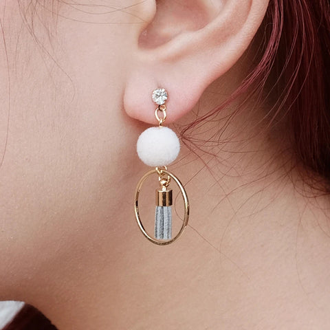 Dainty Bon Bon Tassel Earrings