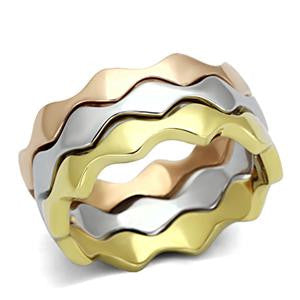 Three Tone Wave Ring