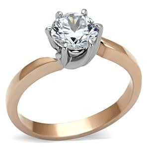 Three Stone Wedding Ring Set