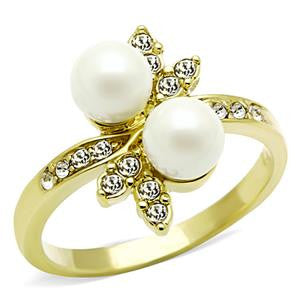 Gold Dual Pearl Ring