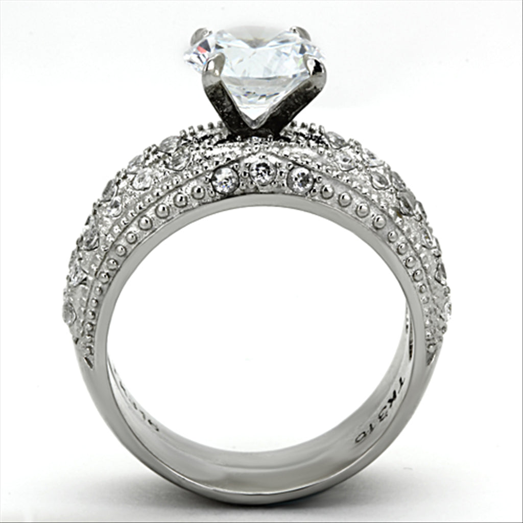 Pave Wedding Ring Set