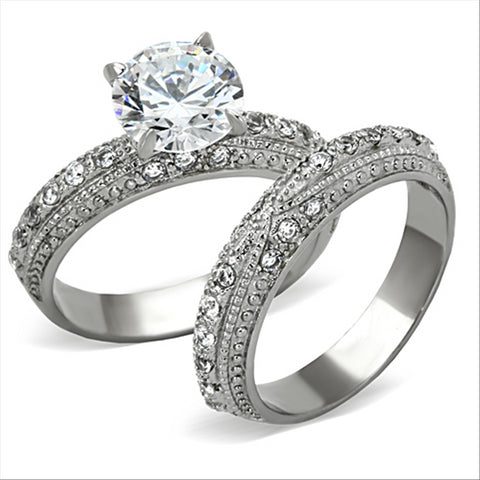 Sparkle Wedding Ring Set