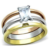Princess Cut Ring Set