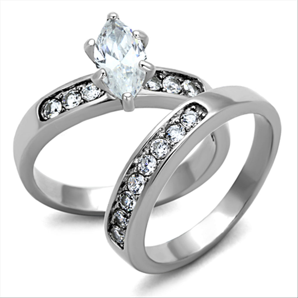 marquise cut cz wedding ring set - Marquis Wedding Ring