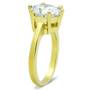 CZ Yellow Gold Engagement Ring