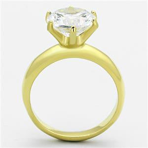 Round Solitaire CZ Engagement Ring