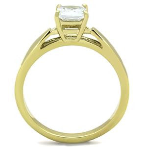 Yellow Gold Cubic Diamond Ring